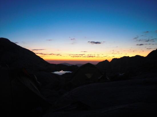 Morning at Trail Camp