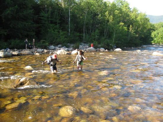 Fording the Pemigewasset River