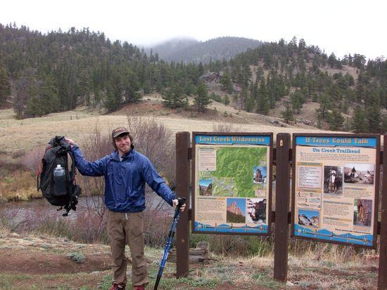 Me at the Ute Creek Trailhead