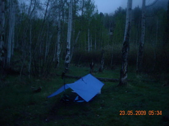 My campsite in Refrigerator Gulch.