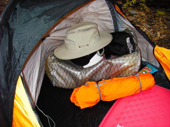 LuxuryLight cylinders in ID Bivy