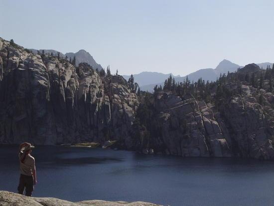 Contemplating Rock and Water at Peeler Lake