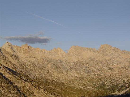 Sawtooth Ridge at Sunset