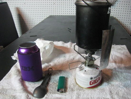 pot and wind screen