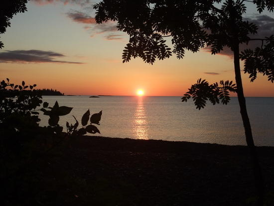 lake superior, sunrise next morning