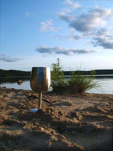 wine on a wilderness lake