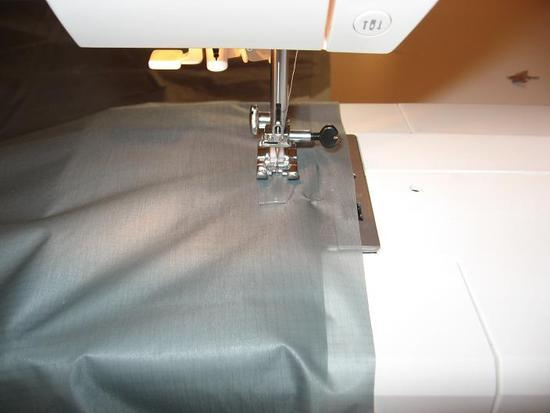 Sewing tarp ridgeline