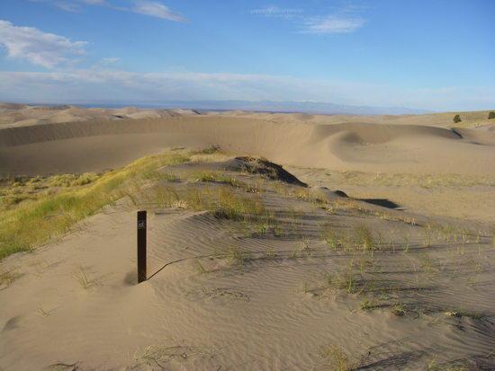 dunes, sky, blaze