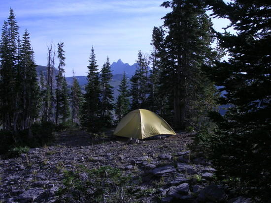 Camp on Death Canyon Shelf