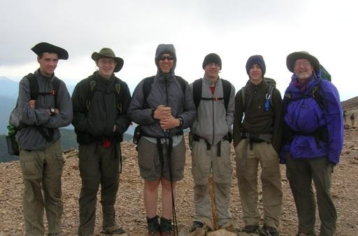 On top of Baldy, Philmont July 2009