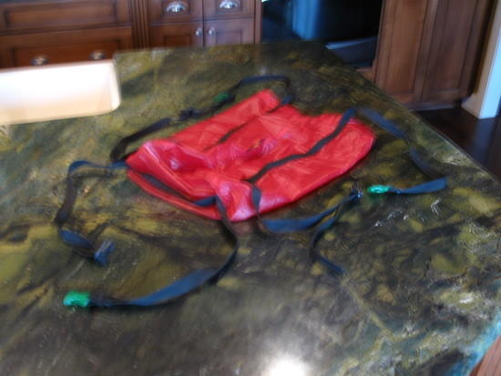 Homemade Summit Pack (end view)