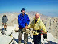Al Patrick and Dale Easton, age 75, on Mt. Whitney summit