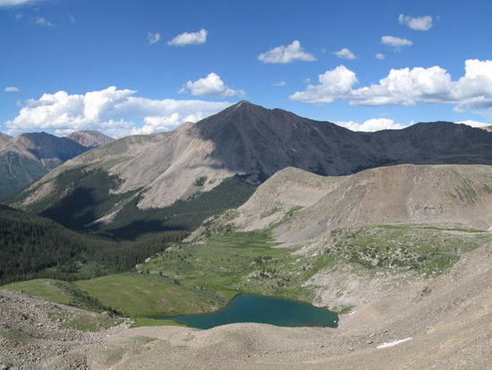 Uhhh... one of 'dem pretty passes in the Sawatch, looking towards 14'ers...