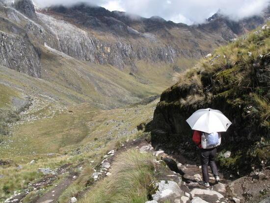 Coming off 14,500 ft pass, Cordillera Blanca, Peru