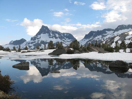 Banner Peak in June, Sierra Nevada, PCT