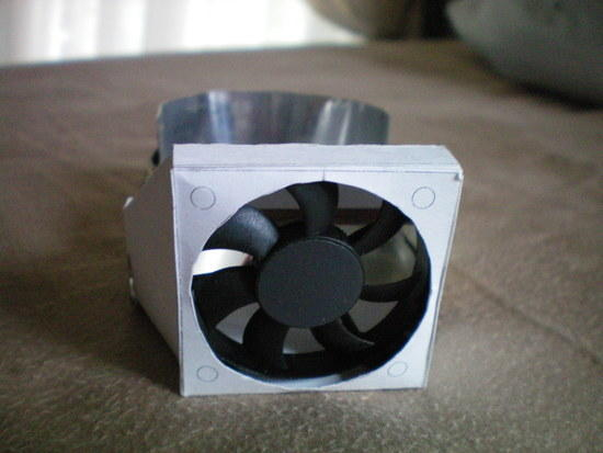 small fan duct front view