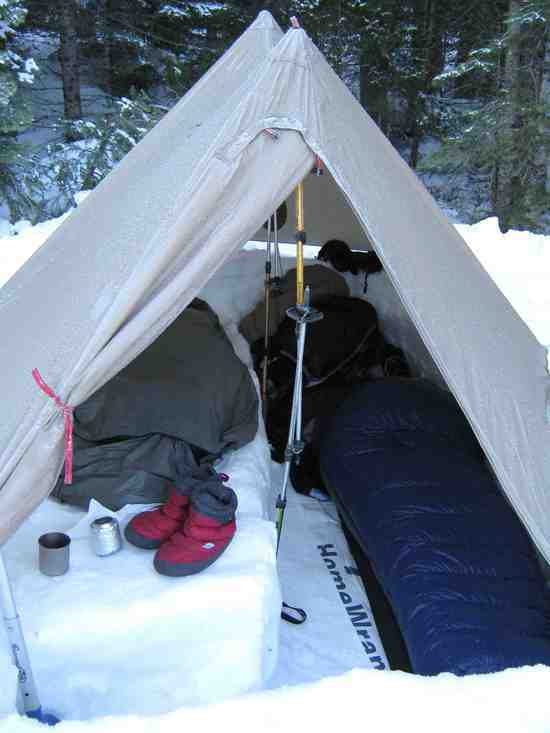 snow tarp snow floorless mid ... & My Snow Camping 101 pictorial - Backpacking Light