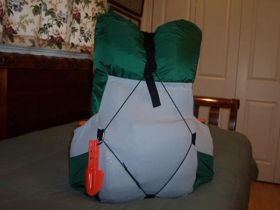 picture of homemade SUL backpack