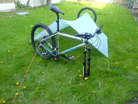 bike tarp setup