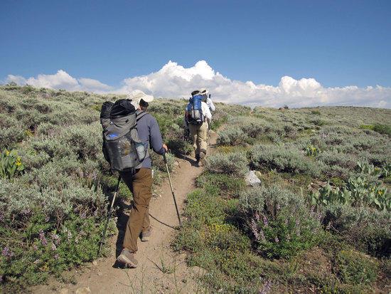 Heading to Marlette Peak
