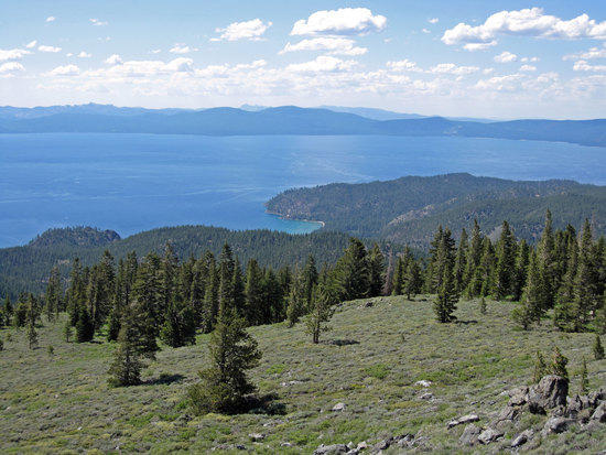 View of the Lake from Near South Camp Peak