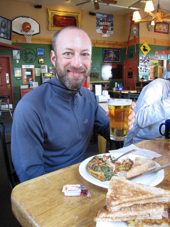 Jeremy Enjoys a Beer Before the End of a Trip