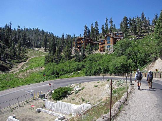 Walking Through Heavenly Ski Resort