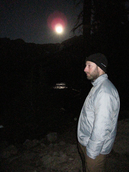 Jeremy Enjoying the Moon Light on the Lake