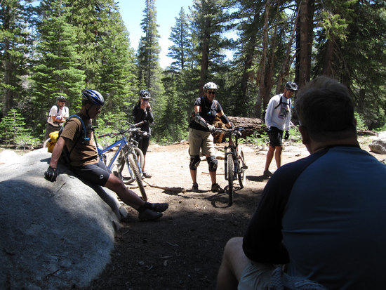Mountain Bikers Taking a Break with Us
