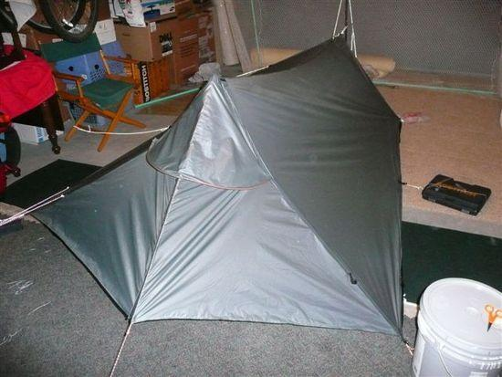 Completed tarptent