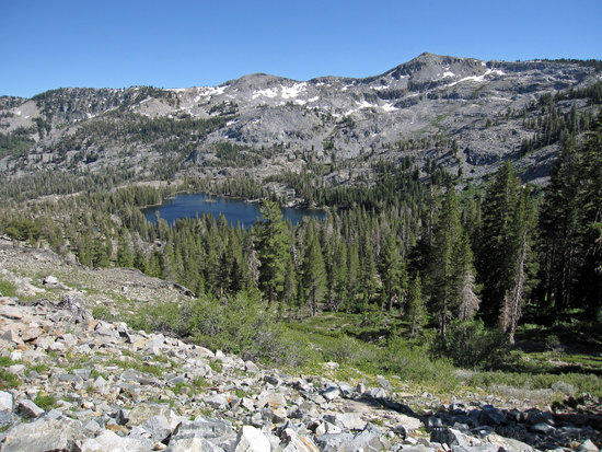 View of Tamarack Lake from the Side of the Trail