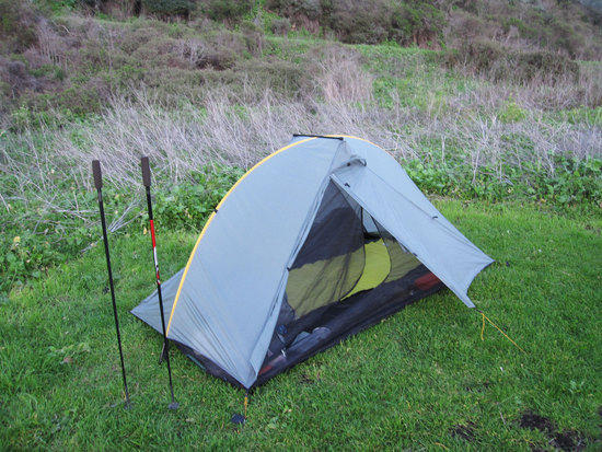 Ken's Tarptent Double Rainbow & Home Make Hiking Poles