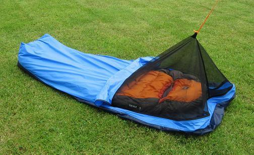 bivy with hood down