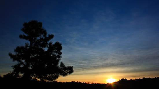 sunrise over hogback