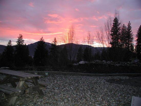 sunset over monumental mtn