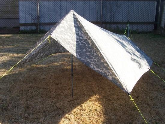 Front view of SUL tarp experiment