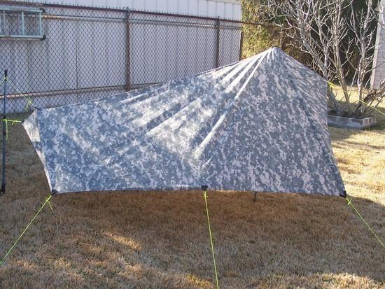 Right side view of SUL tarp experiment