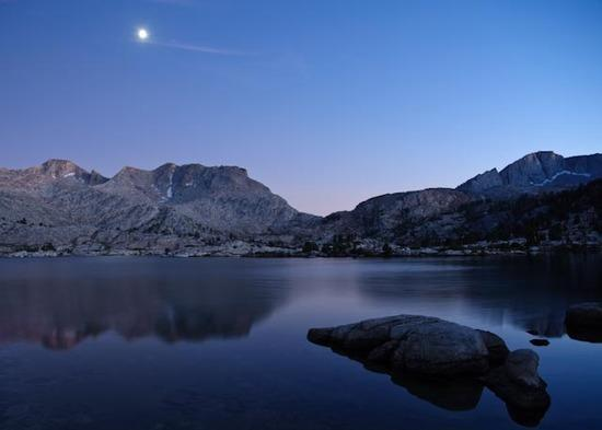 Moon over Marie Lake