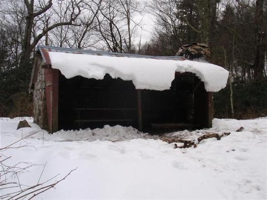 At - Jerry's Cabin shelter, Jan 16