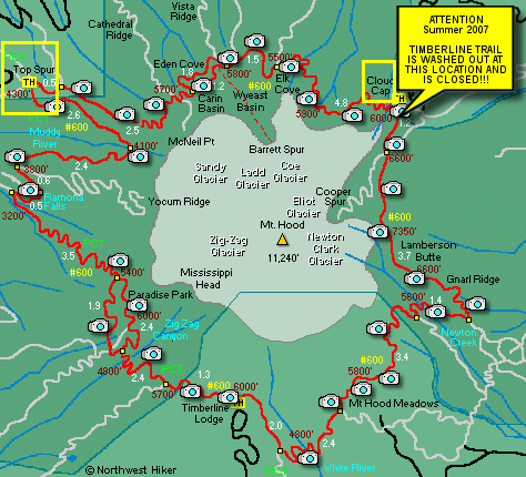 timberline trail map