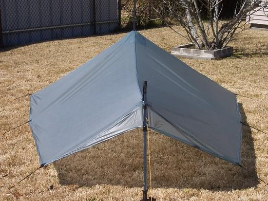 Rear view of SUL Silnylon tarp