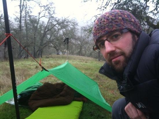 Sleep setup at Henry Coe State Park, Simon Weiss Feb 2010