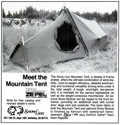 Snow Lion Mountain Tent