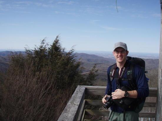 Trevor Wilson on Rich Mtn Fire Tower