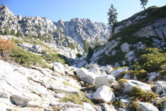 Approach to L Lake, Trinity Alps