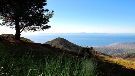 View of Santa Barbara from the top of the Cold Springs Trail