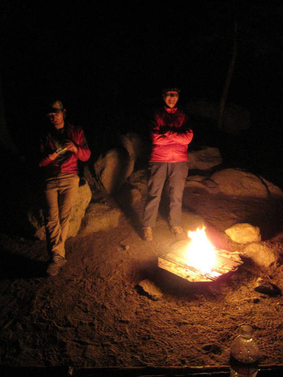 Standing 'round the fire