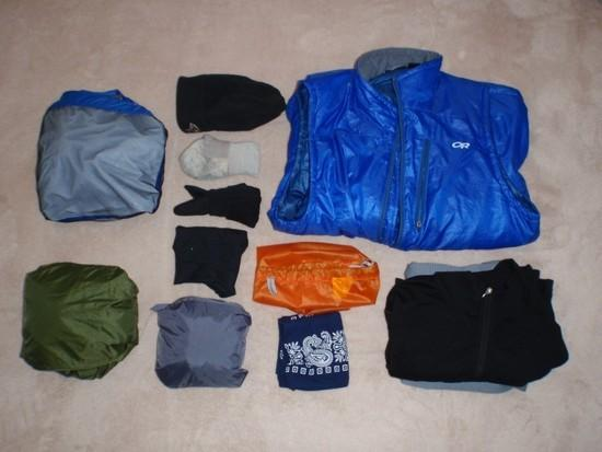 Clothing packed