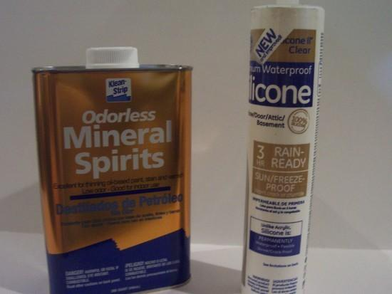 Odorless Mineral Spirits & GE Silicone II