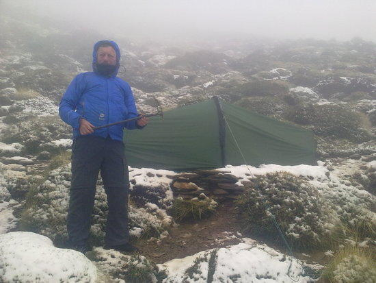 camp for 2 nights until the weather cleared